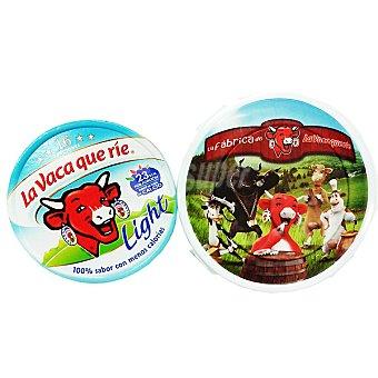 La Vaca que ríe Queso fundido light 16 porciones + regalo fiambrera Pack 2 unidades 250 g