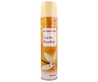 Auchan Ambientador spray con esencia de vainilla 300 mililitros