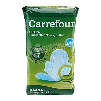 Carrefour Compresas ultrafinas con alas super 24 ud