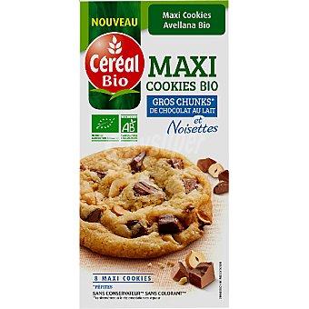 CEREAL BIO maxi cookies con chocolate y avellanas ecológicas envase 185 g