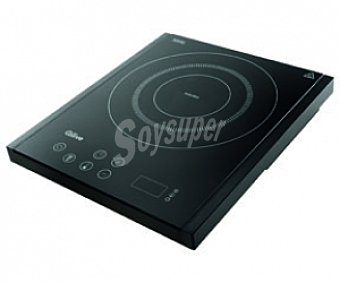 QILIVE Q.5415 Vitro de inducción Negra, temporizador 180 minutos, 10 niveles de potencia (400-2000w), 1 zona de cocción, panel de control por sensor, sistema protección sobrecalentamiento, facilidad de manejo