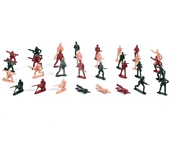 Productos Económicos Alcampo Set Militar con 32 Soldaditos de Plástico 1 Unidad