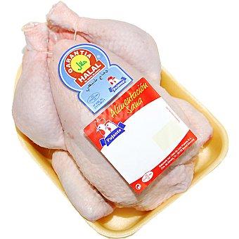 PUJANTE Pollo Halal limpio entero para asar 1 UD bandeja 2 kg peso aproximado 1 UD
