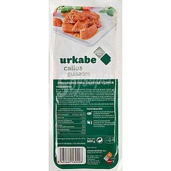 Urkabe Callos de cerdo rojos guisados bandeja 500 g bandeja 500 g