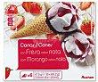 Conos de helado de nata y fresa con salsa de fresa 6 x 120 ml Producto Alcampo