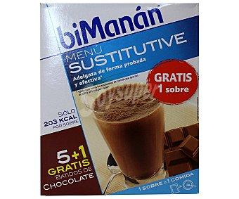 BIMANAN Sustitutive Batidos de chocolate 5 Sobres de 50 Gramos