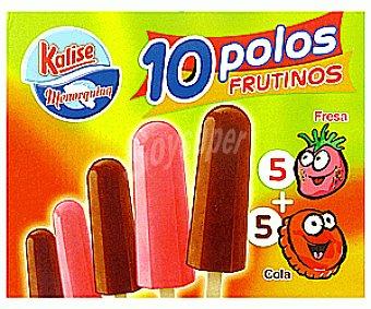 KALISE Polos Frutino Sabor Cola y Fresa 10 Unidades de 50 Mililitros