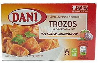 Dani Calamar en salsa americana Lata 68 g