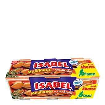 Isabel Mejillón escabeche 6 latas de 80 g