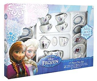 Disney Juego de té de 17 piezas con ilustraciones de personajes de Frozen 1 unidad