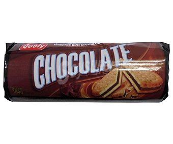 Quely Galletas rellena de chocolate 180 gr