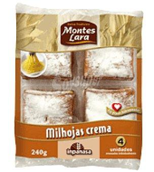 Montes Lara Milhojas con crema 240 g