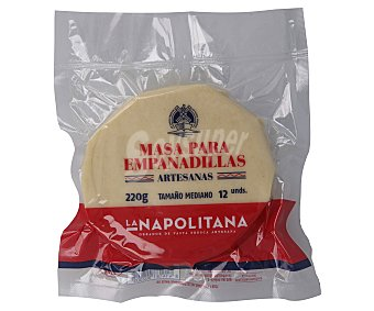 La Napolitana Masa de tamaño mediano para empanadillas 12 uds