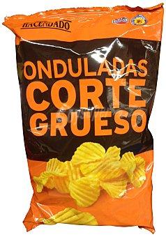 Hacendado Patatas fritas onduladas queso mediterraneo Paquete 160 g
