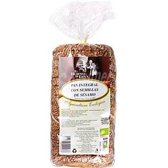 EL HORNO DE Leña pan de molde integral con semillas de sésamo biológico Envase 500 g