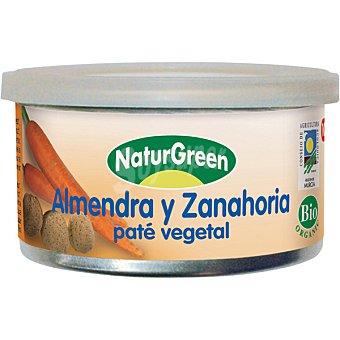NATURGREEN Pate de almendra y zanahoria ecologico tarrina 125 g