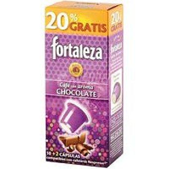 Fortaleza Café con chocolate capsulas 60 g +20% (12 cápsulas)