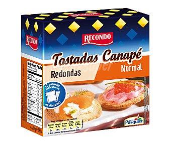 Recondo Tostadas canapé redondas Caja 110 g