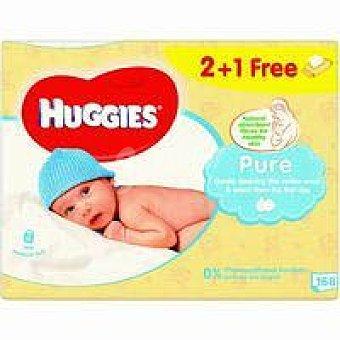 Huggies Toallitas Pure Paquete 2+1 unid
