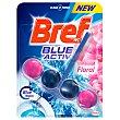 Bloc wc floral azul activo  blíster 1 ud Bref WC