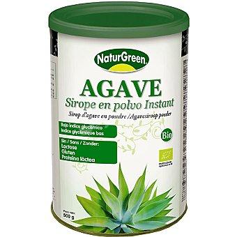 Naturgreen Agave sirope en polvo instantaneo sin lactosa sin gluten sin proteína láctea Envase 500 g