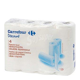 Carrefour Papel cocina 2 capas 4 rollos