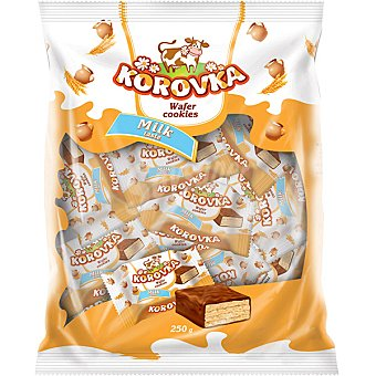 KOROVKA Wafer sabor leche Paquete 250 g