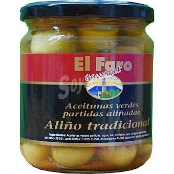 EL FARO Gourmet Aceitunas verdes partidas con aliño tradicional envase 190 g Envase 190 g