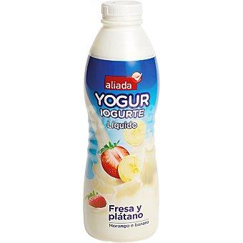 Aliada Yogur líquido de fresa y plátano Botella 750 ml