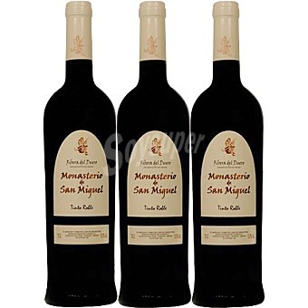 San Miguel Vino tinto roble D.O. Ribera del Duero Estuche 3 botellas 75 cl Estuche 3 botellas 75 cl