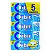 Chicle grageas sabor menta Pack 5 x 10 unidades (50 grageas) Orbit