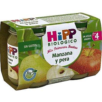 HiPP Biológico Tarrito de manzana y pera desde los 4 meses bio Pack 2x125 g