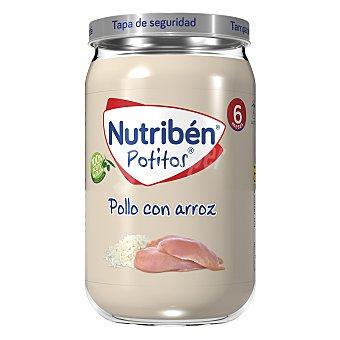 Nutribén Tarrito de pollo con arroz a partir de 6 meses 235 g