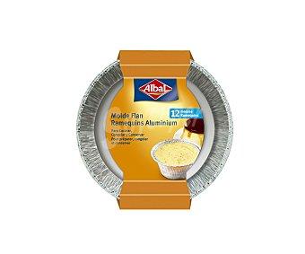 Albal Molde aluminio para flan Paquete de 12 u