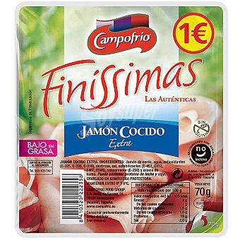 Finissimas Campofrío Jamón cocido extra en lonchas Envase 70 g