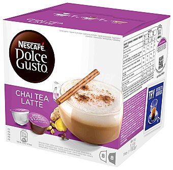 Dolce Gusto Nescafé Chai Tea Latte Caja 8 cápsulas té + 8 cápsulas leche