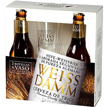 Weiss Damm Cerveza Pack de 2 botellas de 33 cl
