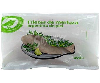 Producto Alcampo Filetes de merluza argentina, ultracongelados y sin piel auchan Económico 400 g