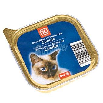 DIA Alimento para gatos trocitos conejo en salsa tarrina 100 gr Tarrina 100 gr