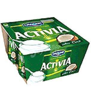 Activia Danone Yogur activia sabor coco Pack de 4x125 g