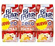 Babida de leche con zumo de frutas hawaianas Zero de pascual 3 x 330 ml Bifrutas Pascual