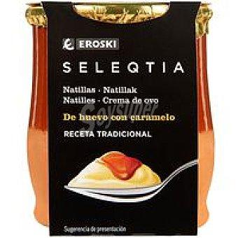 Eroski Seleqtia Natillas con caramelo Eroski 140 g