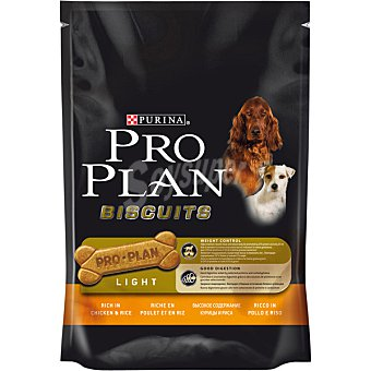 Pro Plan Purina Light para perro adulto galletas ricas en pollo y arroz Biscuits bolsa 150 g Bolsa 150 g