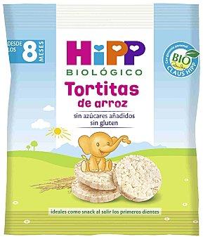 HiPP Biológico Tortitas de arroz biológico ideal como snack para los primeros dientes  bolsa 30 g