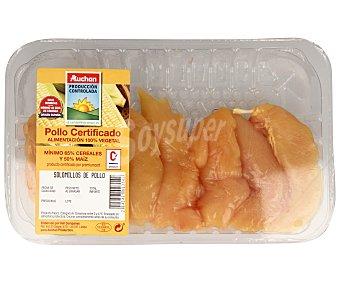 ALCAMPO PRODUCCIÓN CONTROLADA Bandeja con solomillos de pollo certificado 340 gramos aproximados