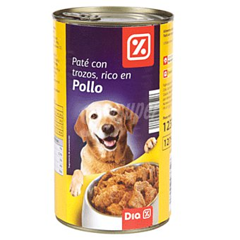 DIA Alimento para perros pate con trozos de pollo Lata 1230 gr