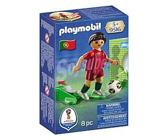 Playmobil Figura jugador de fútbol selección de Portugal, Mundial Rusia 2018, 9516 PLAYMOBIL.