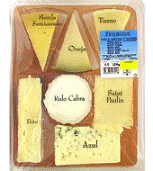 CABRA Tabla de 7 quesos: semicurado, oveja, tierno, Brie, , Saint Paulin y azul Bandeja de 500.0 g.