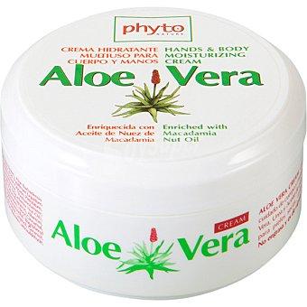 PHYTO NATURE Aloe Vera Crema corporal enriquecida con Aceite de Nuez de Macadamia Tarros 300 ml