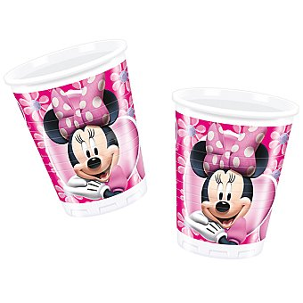 LIRAGRAM vaso plástico decorado Minnie  200 ml 10 unidades